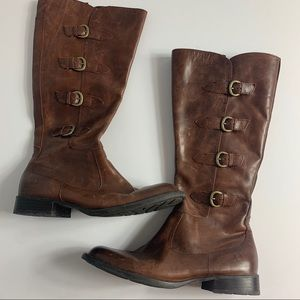 Born brown leather riding boots